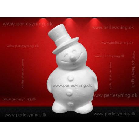 17 cm snemand med høj hat