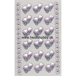 Stickers lyserød fodtryk
