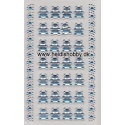 Stickers lyseblå bamse