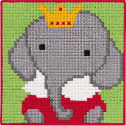 Elefant Børnestramaj 25 x 25 cm