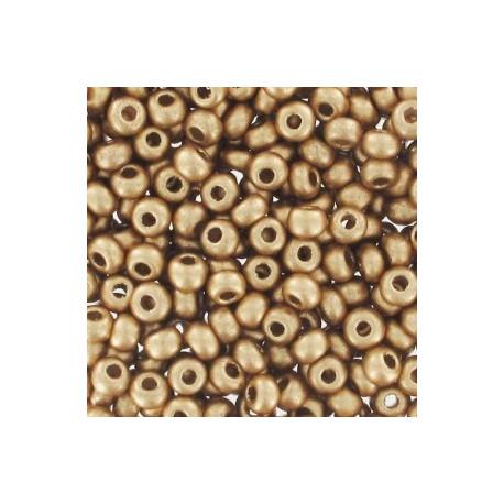 9/0 Mat guld perle 10 gram roc-442