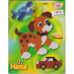 Hama midi hund, fly og bil