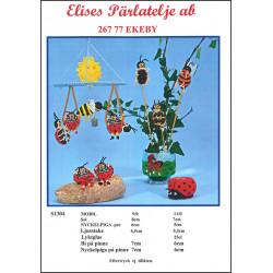 Perlemønster nr S1304 Elises -brugt-