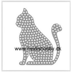 Diamant klistermærke kat