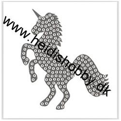 Diamant klistermærke enhjørning sølv