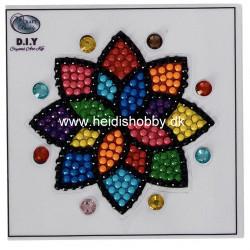Diamant klistermærke Blomst / mandela