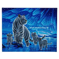 Tigerfamilie  med ledlys