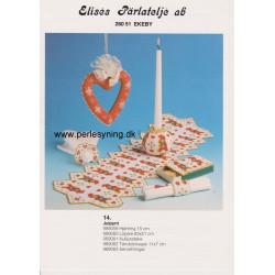 Perlemønster nr 989061 kuglelysestage Elises -brugt-