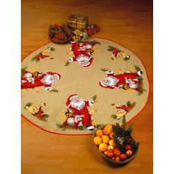 Juletræstæppe: julemand med dyr
