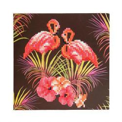 Diamant Kort med Pink flamingo