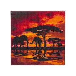Elefant silhouette  30x30 cm