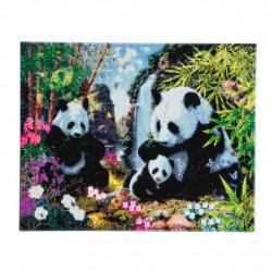 Panda Familie 40x50 cm