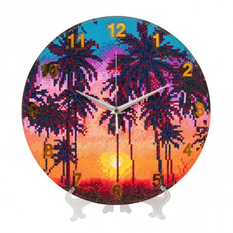Palmer på stranden som  ur