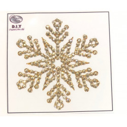 Snefnug guld diamantklistermærke
