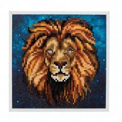 Løve 20 x 20 cm diamantbilledet