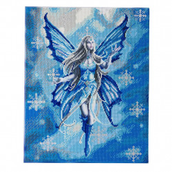Diamantbilled: Sne fe / engel 40 x 50 cm