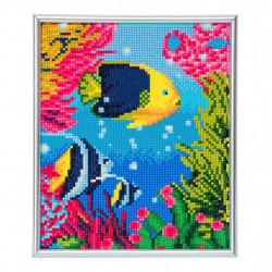 Tropisk fisk diamant billedet 21 x 25 cm