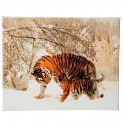 Vinter tiger 40 x 50 diamantbilledet