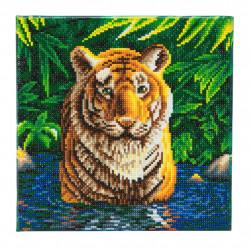 Tiger pool- diamantbillede 30 x 30 cm