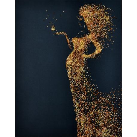 Perlebroderi : Lady in Gold