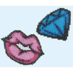 Perlebroderi : diamant og læber