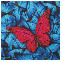 Diamant Kort med sommerfugl 18 x 18 cm