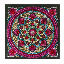 Diamant Kort med Mandala 18 x 18 cm