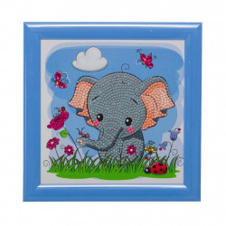 Elefant 18 x 18 cm  cm diamantbillede