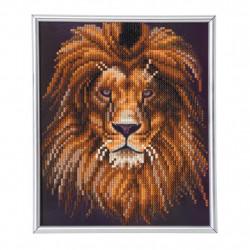 Løve diamant billede 21 x 25 cm