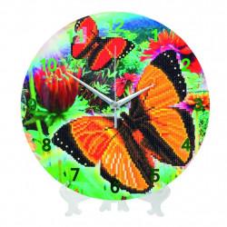Diamant ur med sommerfugl