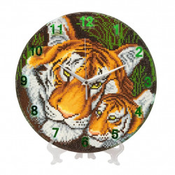Diamant ur med Tigermor og Tigerunge