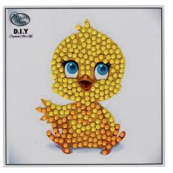 Diamant klistermærke kylling