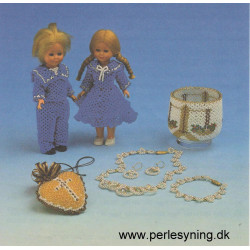 1991 Elises perleopskrift nr 5  hjerte 5 cm