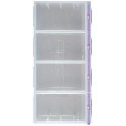 2 Xl opbevaringsboks med 4 rum