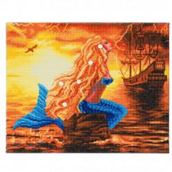 Havfrue Drømme 40 x 50 cm Diamant Billede