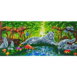 Møde i Skoven 40x90 cm Diamant billede