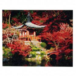Japansk Tempel - 40x50 cm - Diamant billede