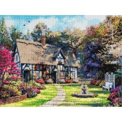 Hus på landet - 40x50 cm - Diamant Billede fuldt besat