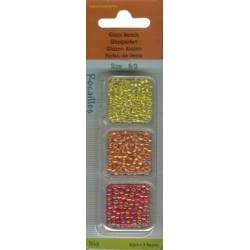 8/0 Rocailles perler, rød, orange, gul