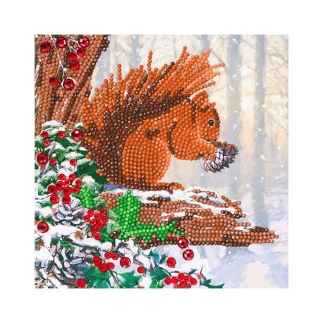 Egern - Diamant Julekort 18 x 18 cm