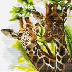 Giraffer  30 x 30 cm diamant billede
