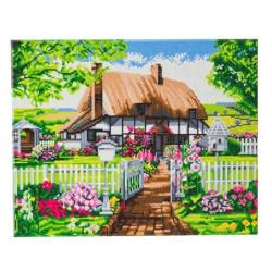 Sommerhus 40 x 50 cm Diamant billede