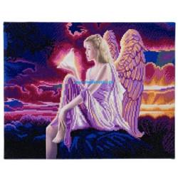 Engel med ledlys - 40 x 50 cm