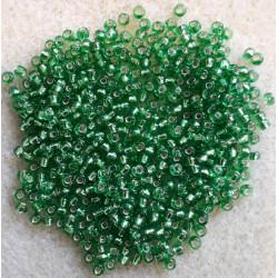 Miyuki perle 9/0 lys Grøn silverlined Nr 15