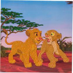Simba & Nala 18x18 cm kort