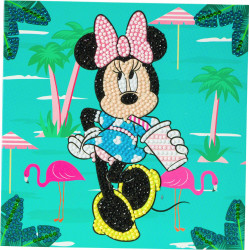 Minnie på Ferie 18x18 cm Diamant kort