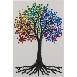 Regnbue Træ 10x15 cm Diamant kort