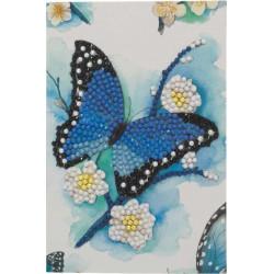 Blå Sommerfugl 10x15 cm Diamant kort