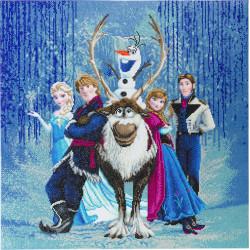 Frost Diamant billede 70 x 70 cm