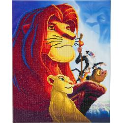 Løverens konge 40x50 cm Diamant Billede